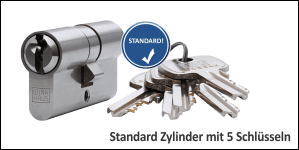 Standard Cylinder with 5 key